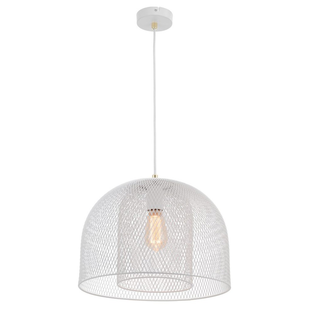 Milford Metal Wire Pendant Light, White