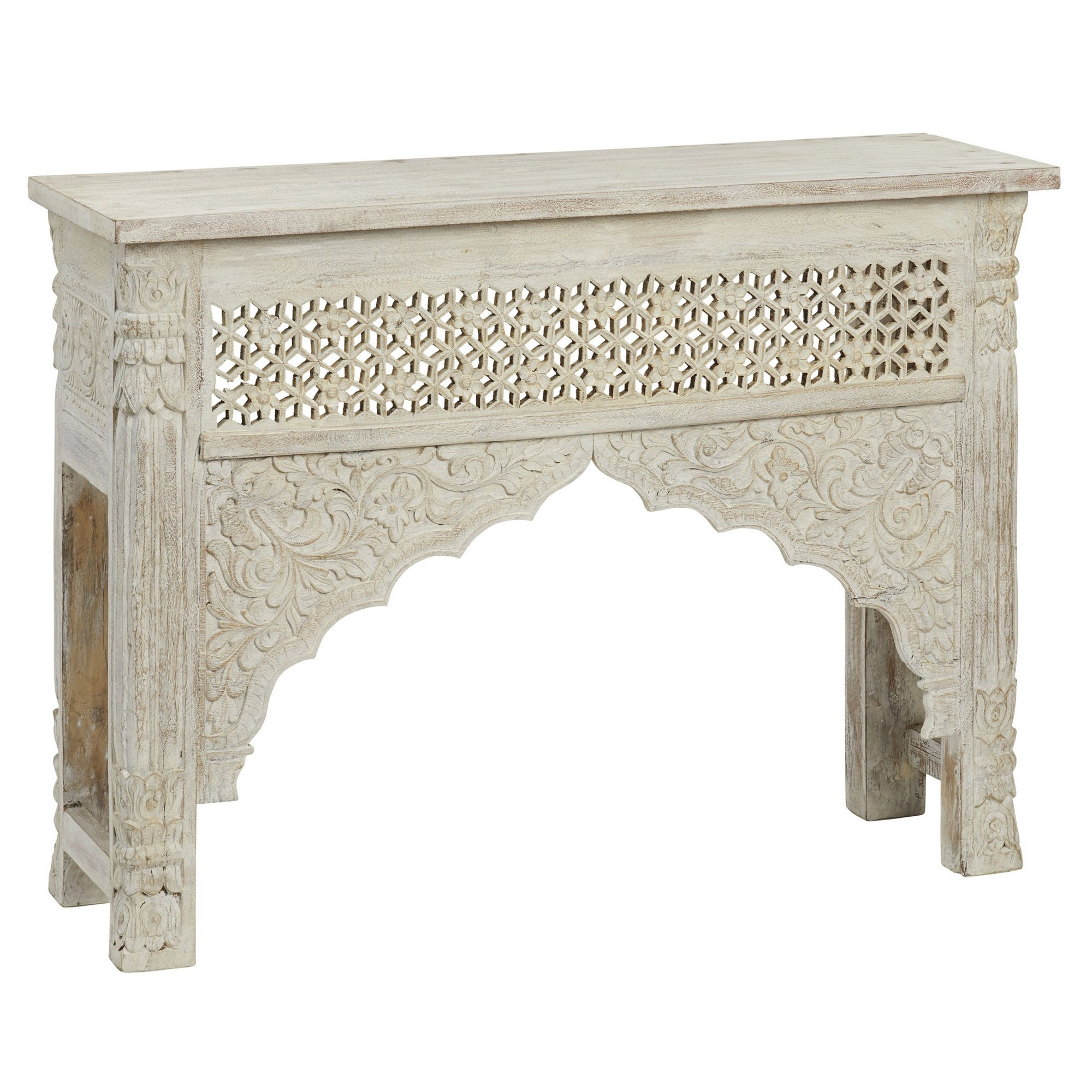 Ambala Mango Wood Console Table, 120cm