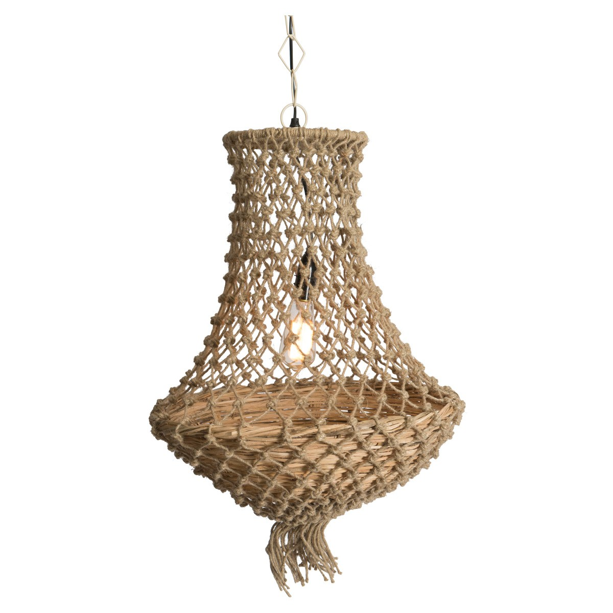 Chatou Knotted Jute Pendant Light
