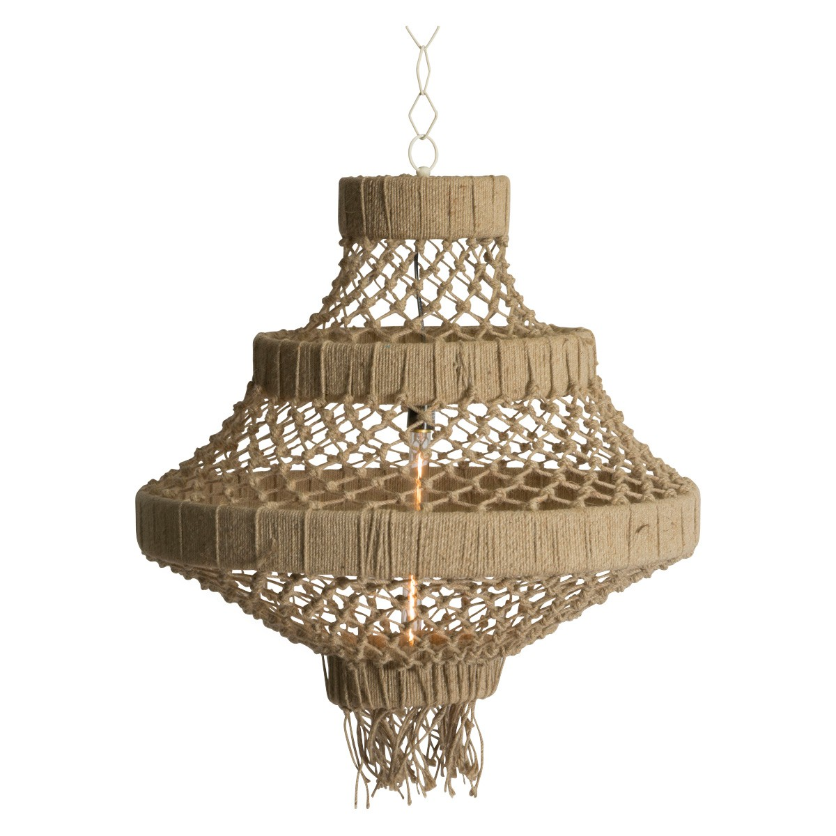 Alta Knotted Jute Pendant Light, Large