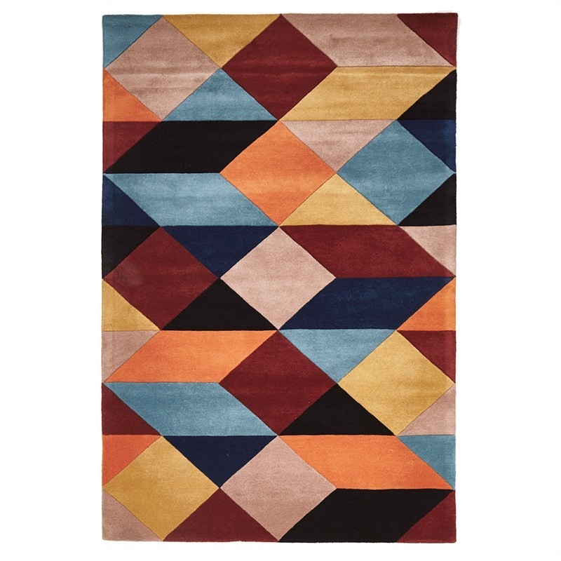 Matrix Columnar Hand Tufted Wool Rug, 320x230cm, Sunset