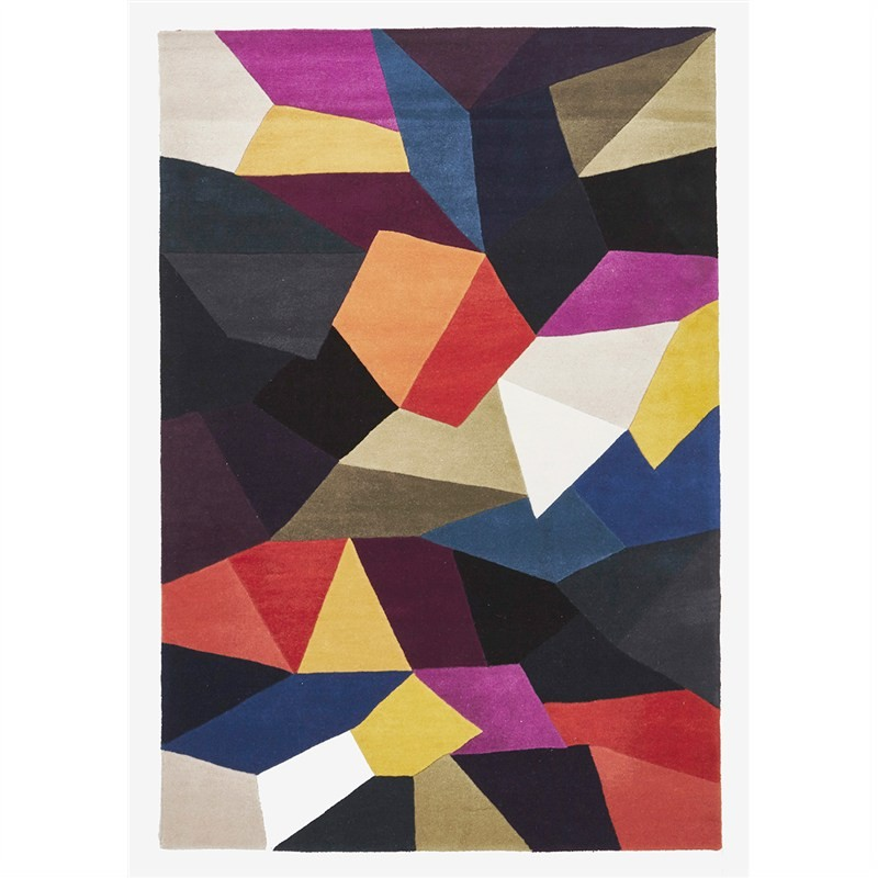 Matrix Carnival Hand Tufted Wool Rug, 280x190cm