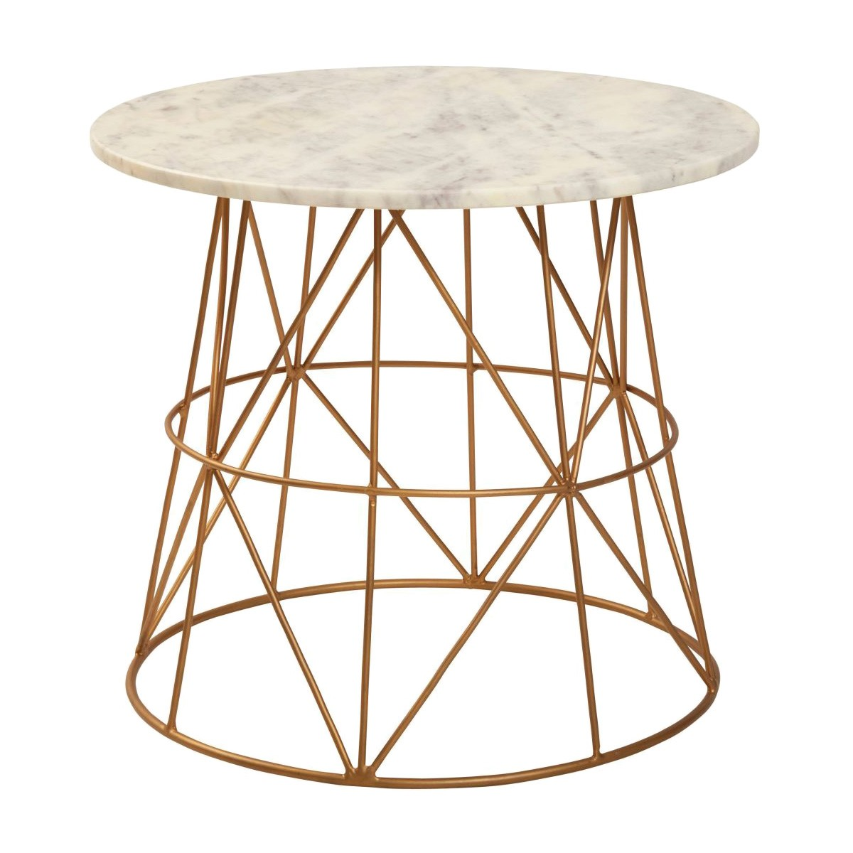 Klein Marble Topped Iron Round Side Table
