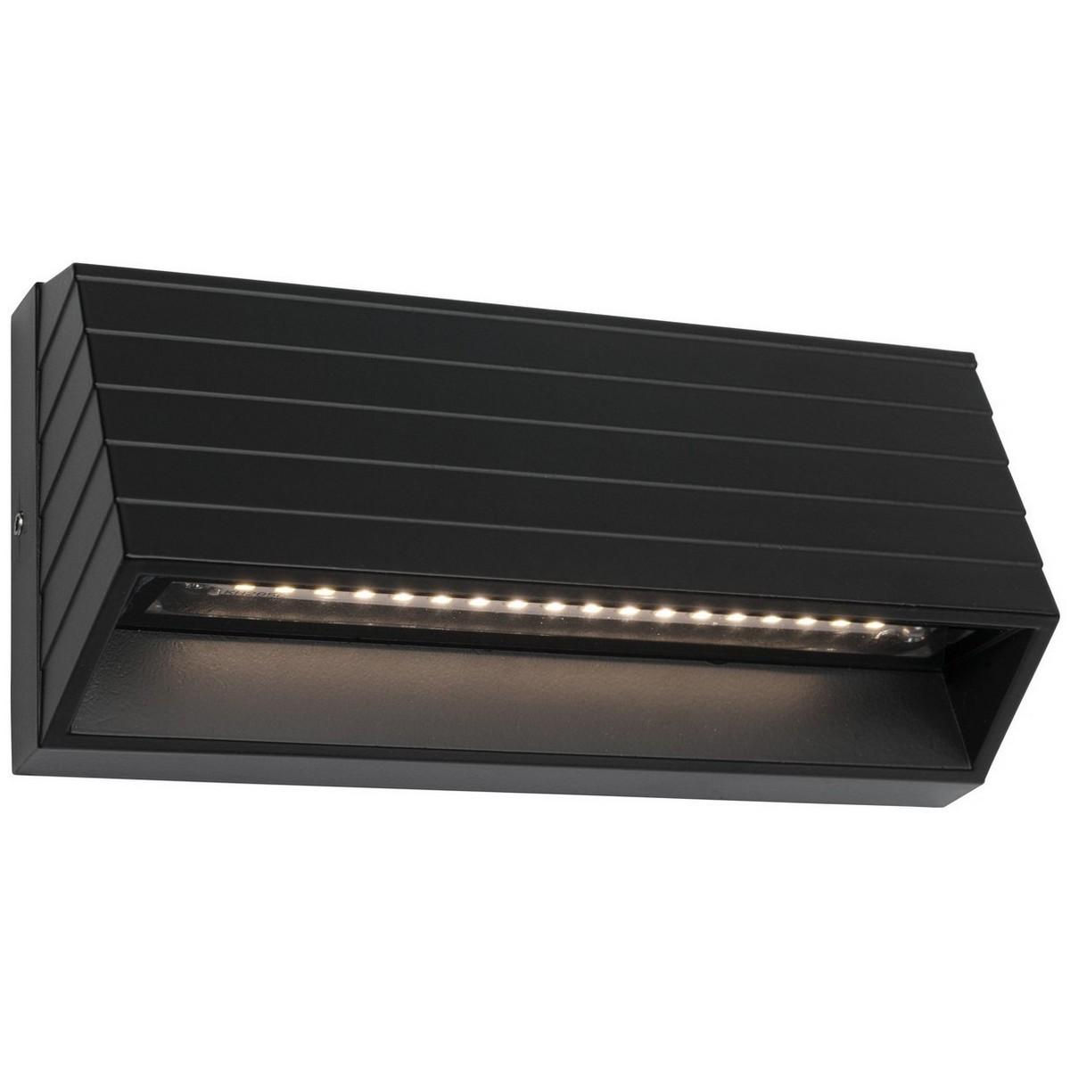 Civita IP54 LED Indoor/Outdoor Step / Wall Light, Black
