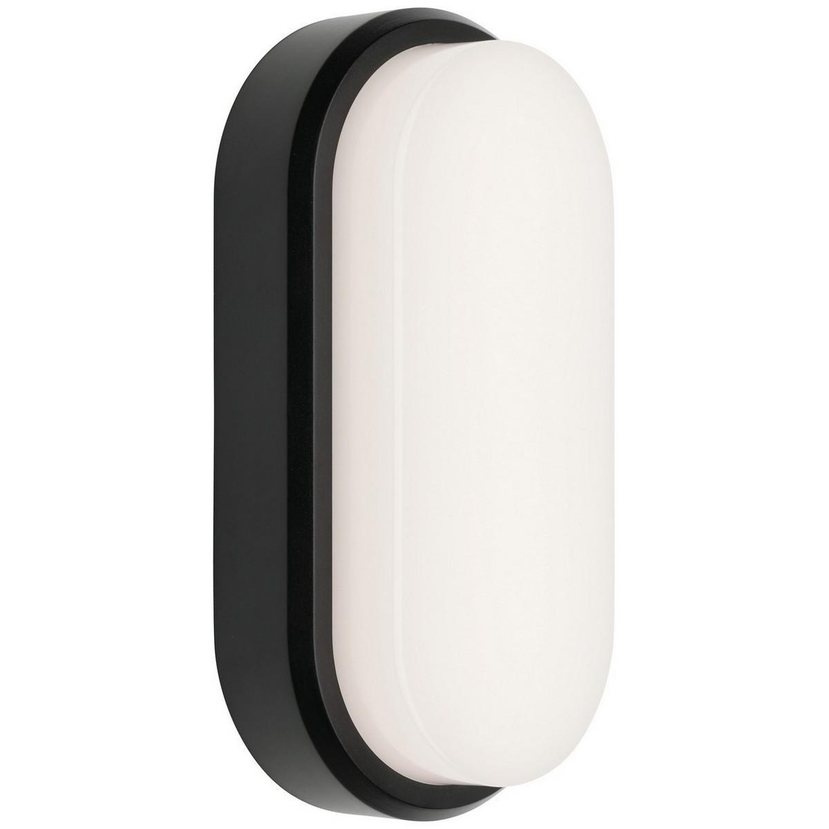 Rory IP54 LED Outdoor Oval Bunker Light, Black