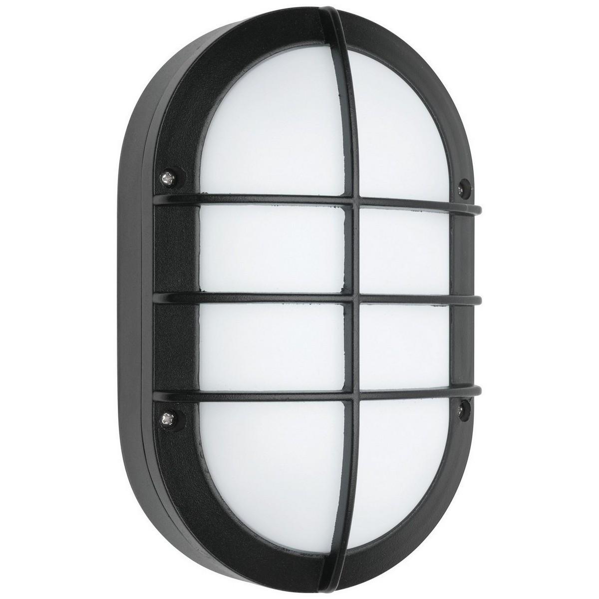 Felix IP65 LED Outdoor Caged Oval Bunker Light, Black
