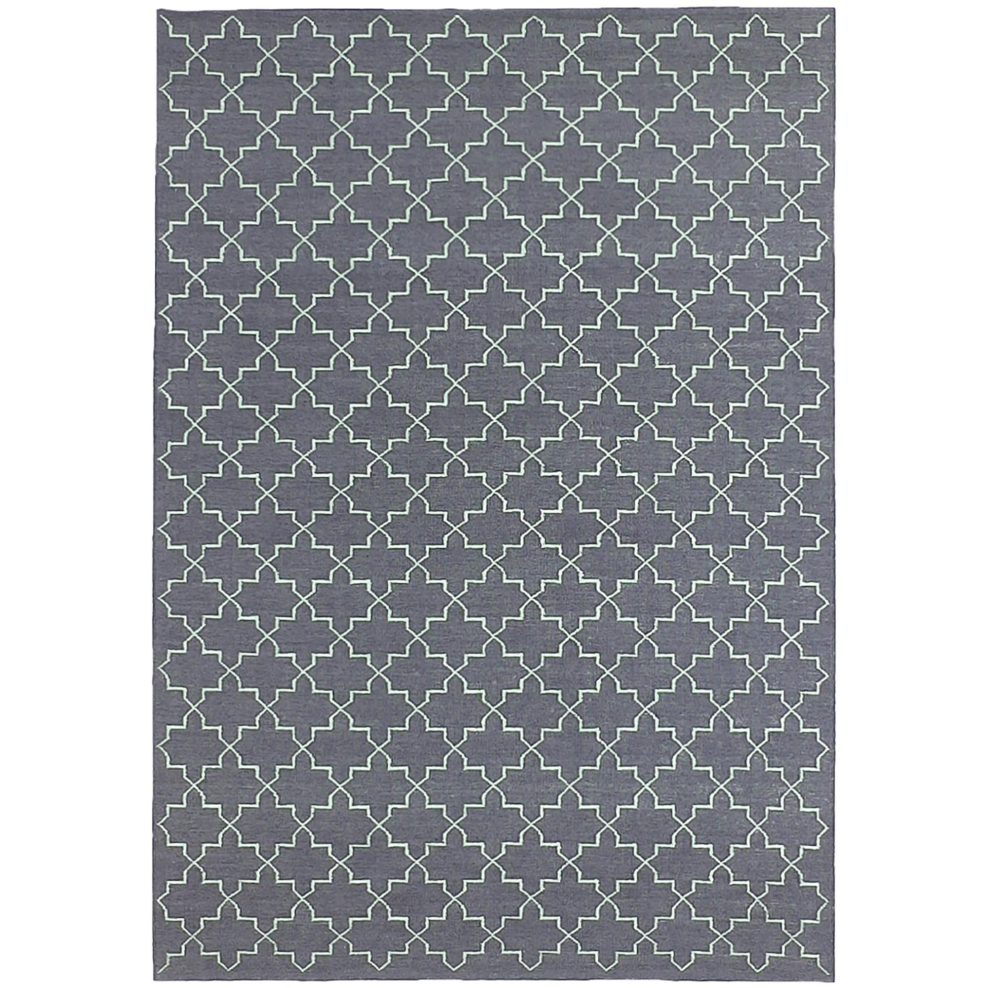 Moroc Hand Woven Wool Rug, 250x300cm, Grey
