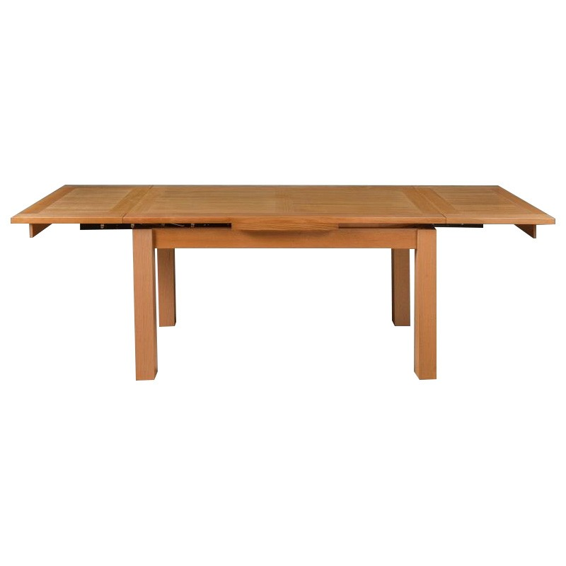 Moselia Tasmanian Oak Timber Extensible Dining Table, 150-250cm, Wheat