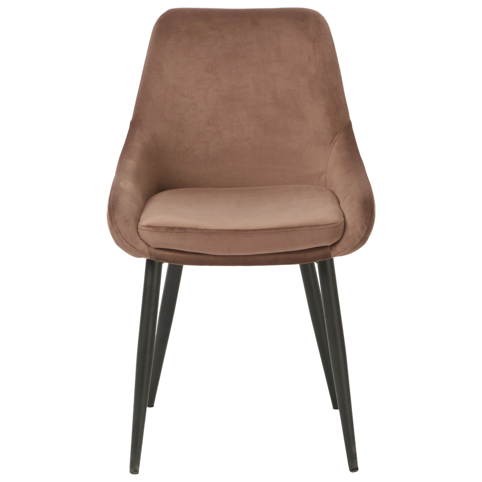 Frobisher Velvet Fabric Dining Chair, Mocha