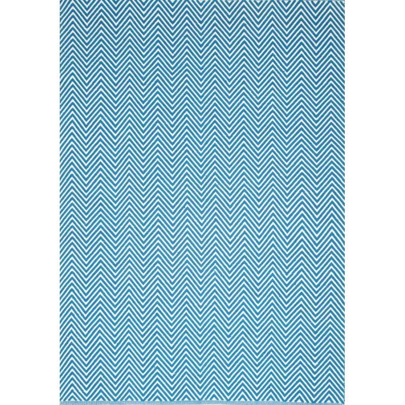 Natura Linzi Hand Woven Cotton Rug, 290x200cm, Chevron Blue