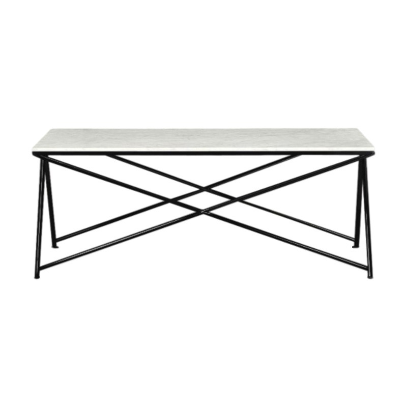 Celle Marble & Metal Coffee Table, 120cm