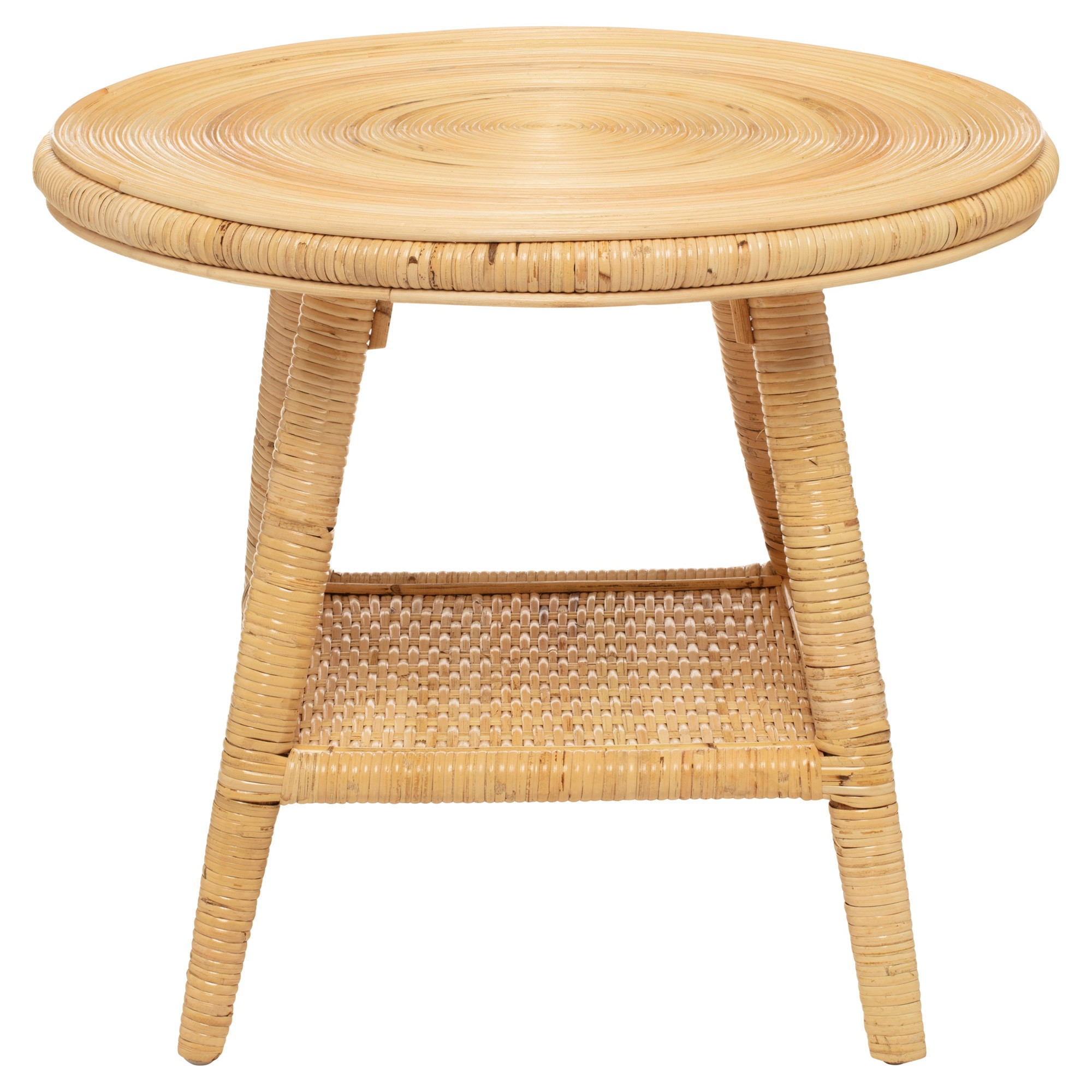 Newport Rattan Round Coffee Table, 58cm