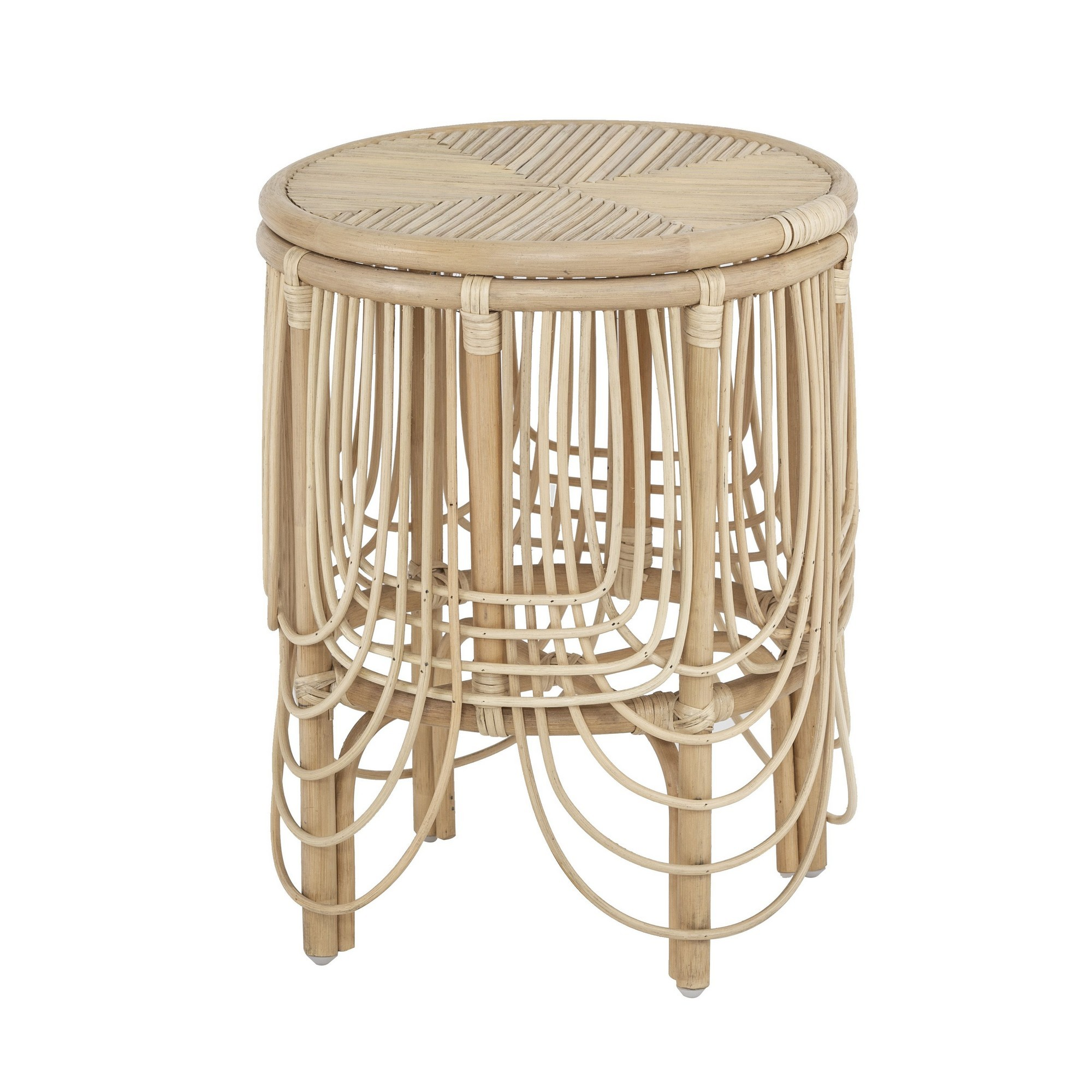 Belize Rattan Round Side Table