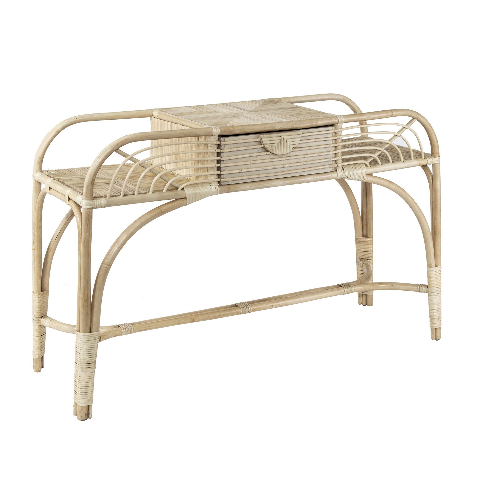 Belize Rattan Console Table, 120cm