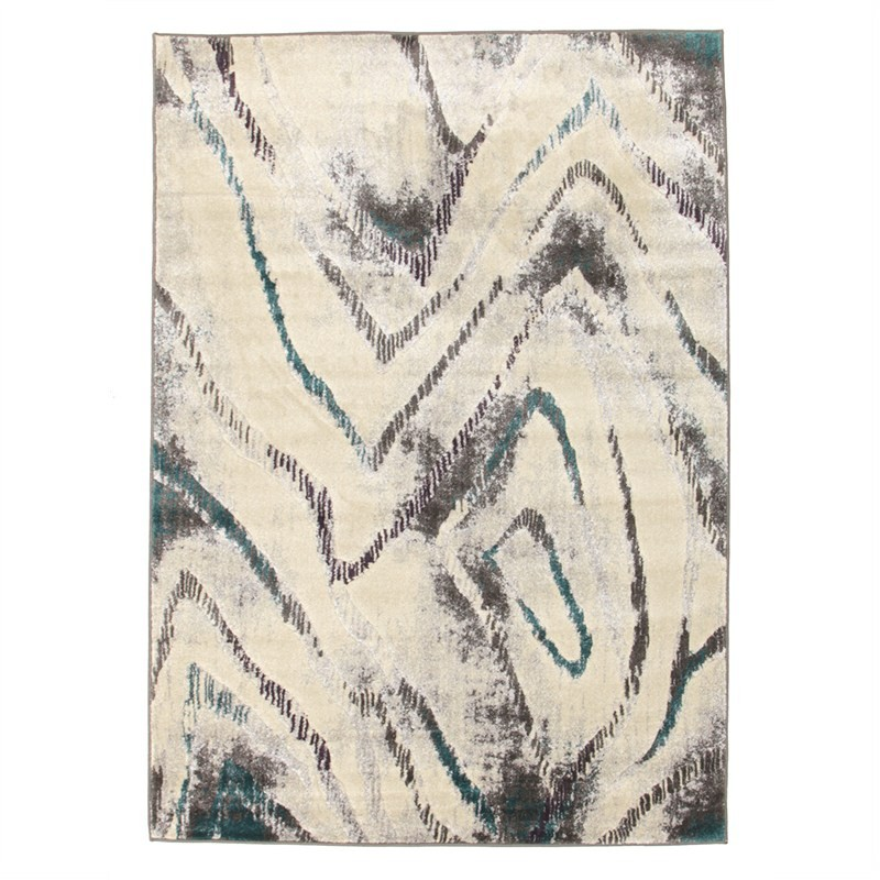 Dillon Geo Modern Rug in Blue/Grey - 230x160cm
