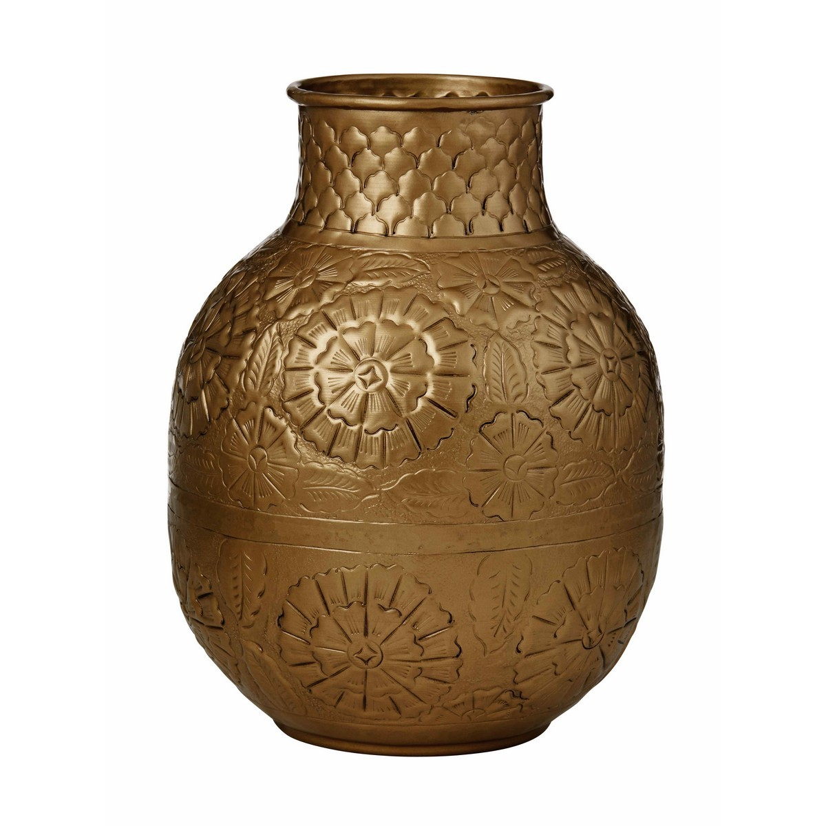 Amala Metal Vase, Large