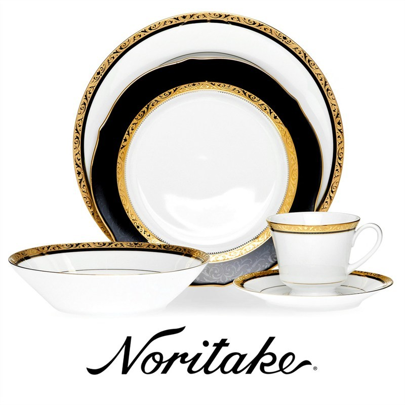 Noritake Regent Gold Fine China 20 Piece Dinner Set