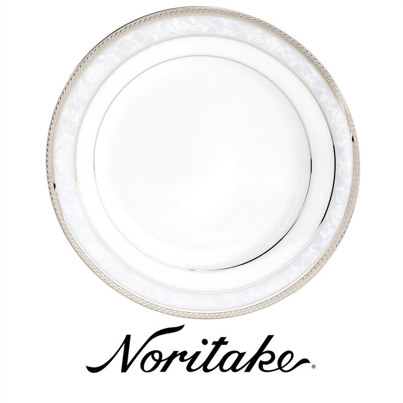 Noritake Hampshire Platinum Fine China Dinner Plate