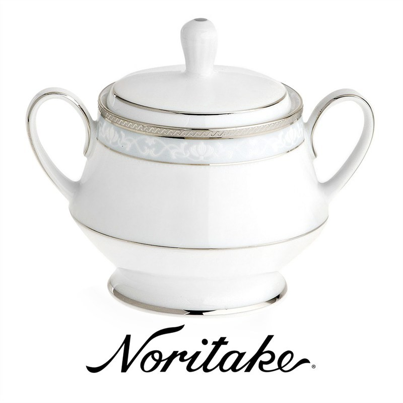 Noritake Hampshire Platinum Fine China Sugar Bowl