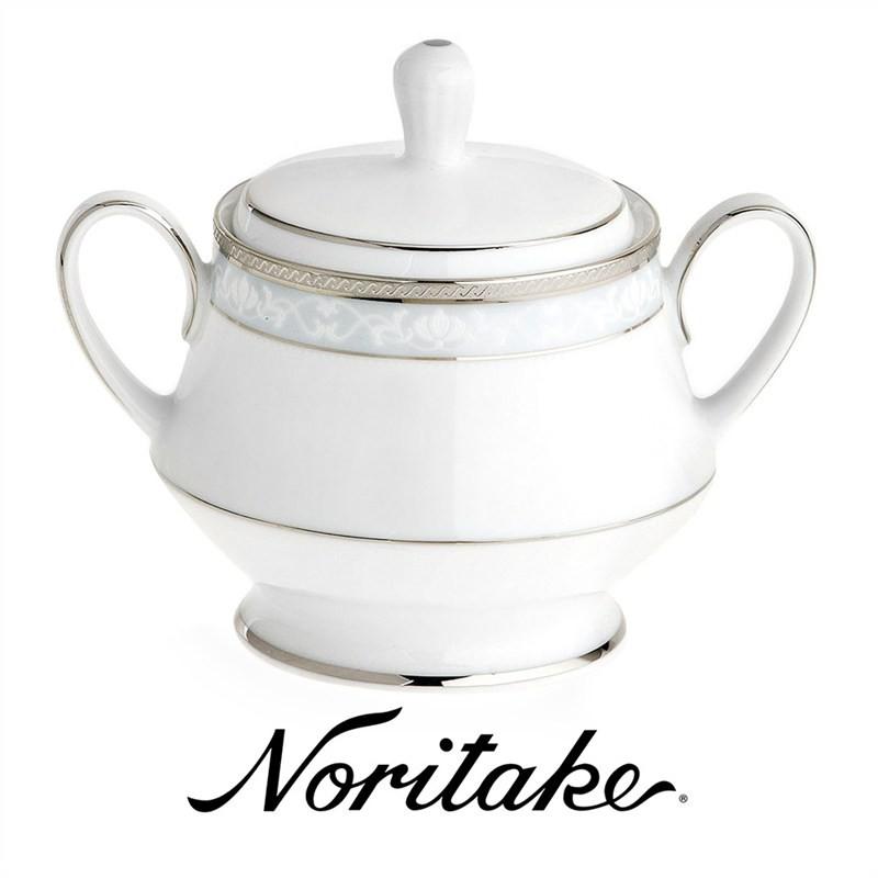 Noritake Hampshire Platinum Fine China Sugar Bowl
