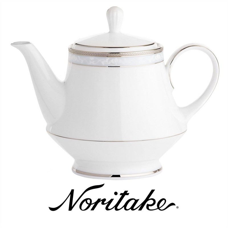 Noritake Hampshire Platinum Fine China Tea Pot