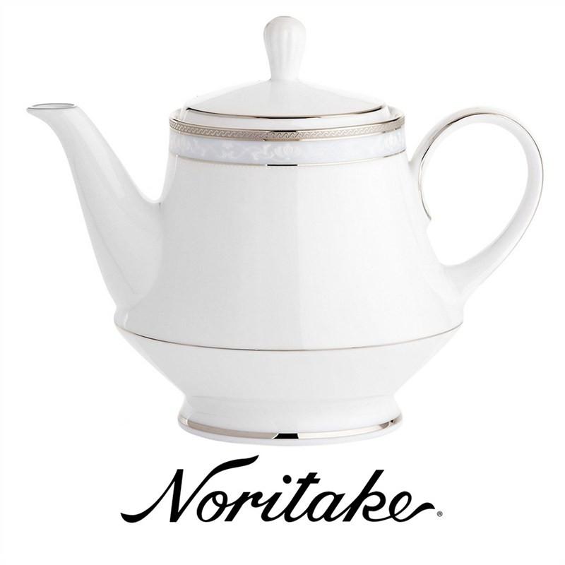 Noritake Hampshire Platinum Fine China Tea Pot