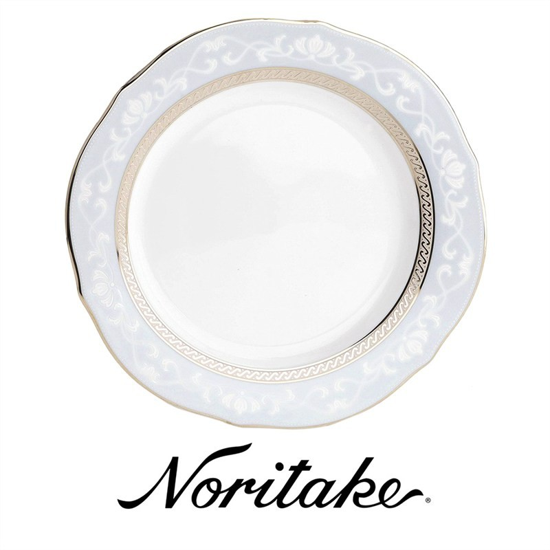 Noritake Hampshire Platinum Fine China Accent Plate