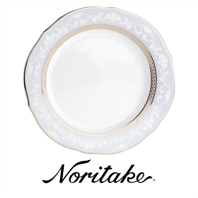 Noritake Hampshire Platinum Fine China Accent Plate