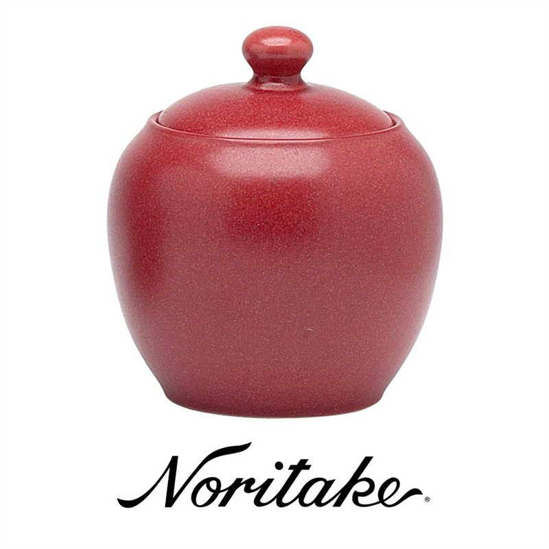 Noritake Colorwave Raspberry Sugar Bowl