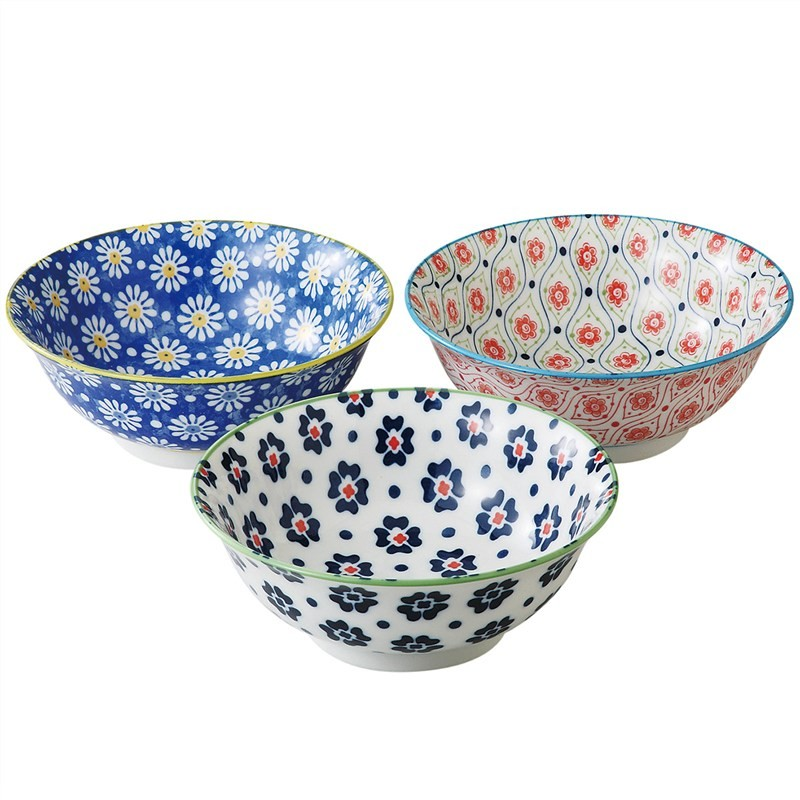 Mino Japan Table Talk 3 Piece 21cm Bowl Set