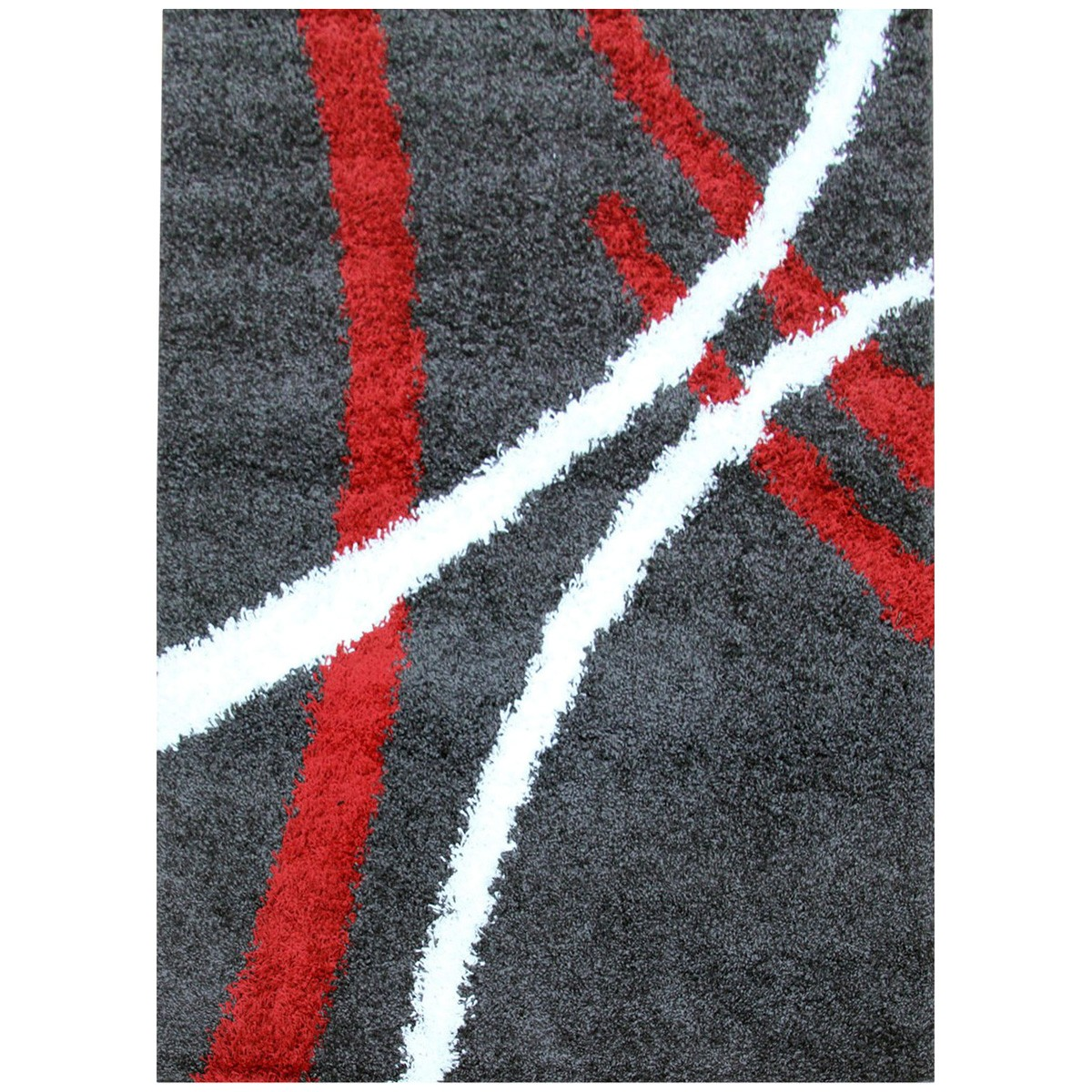 Notes Strokes Turkish Made Shag Rug, 150x80cm, Charcoal
