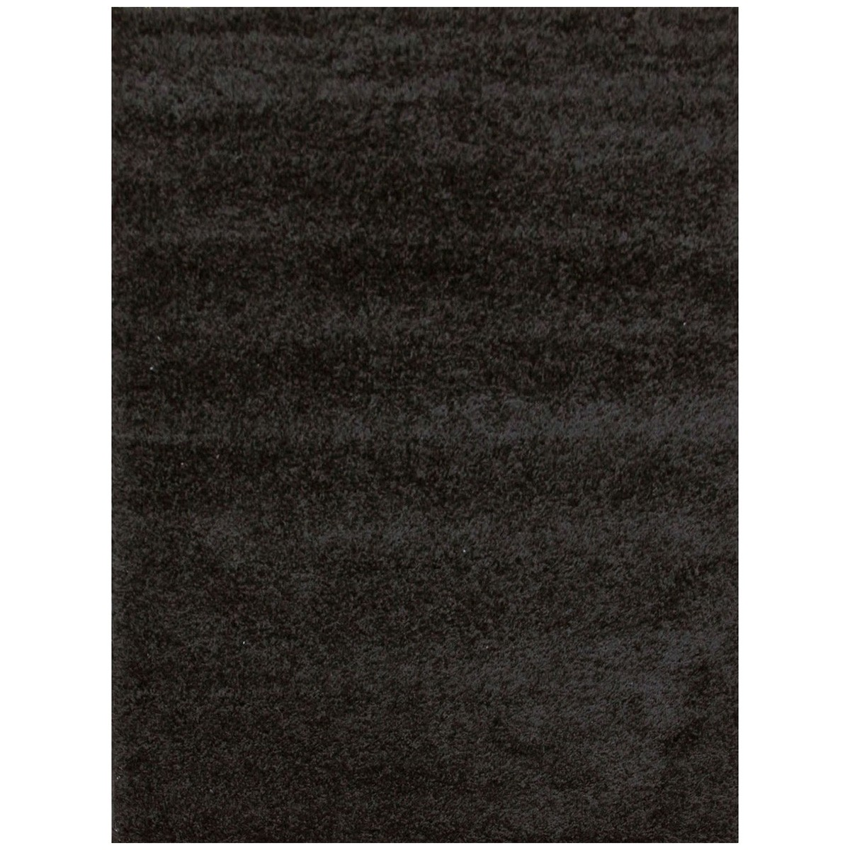 Notes Plain Colour Turkish Made Shag Rug, 230x160cm, Black
