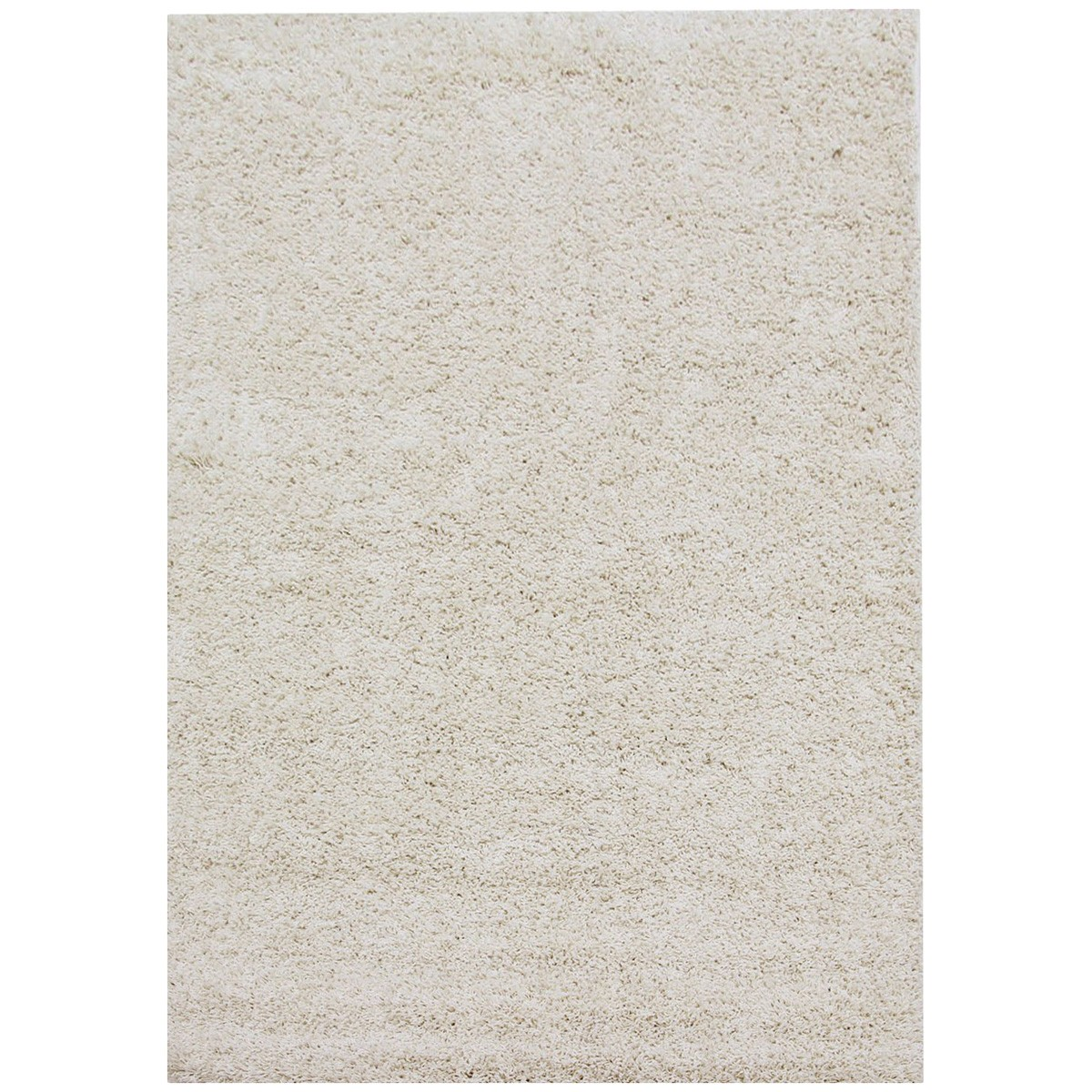 Notes Plain Colour Turkish Made Shag Rug, 170x120cm, Ivory