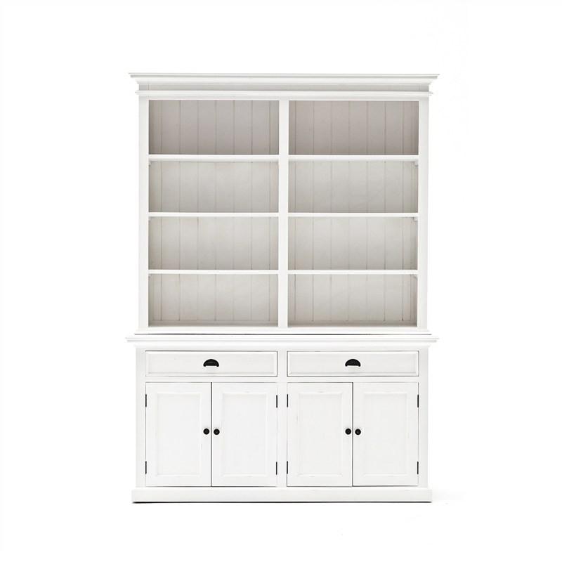 Halifax Mahogany Timber 4 Door 2 Drawer Hutch Cabinet