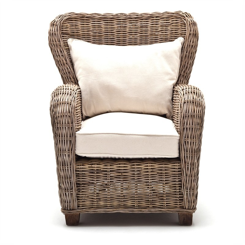 Reine Kubu Rattan Armchair with Cushion