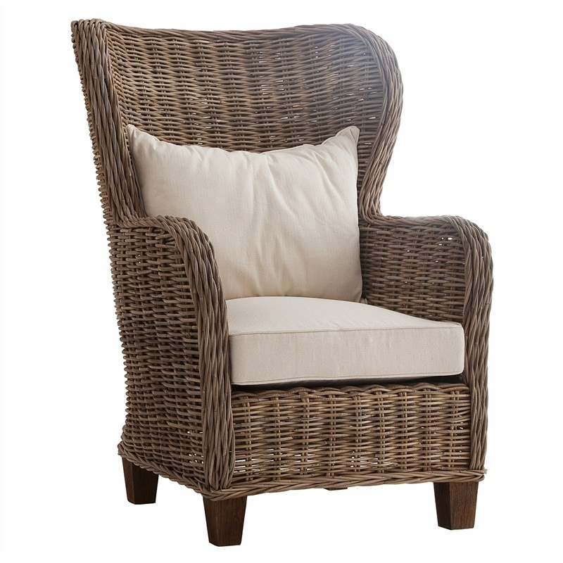 Roi Kubu Rattan Armchair with Cushion