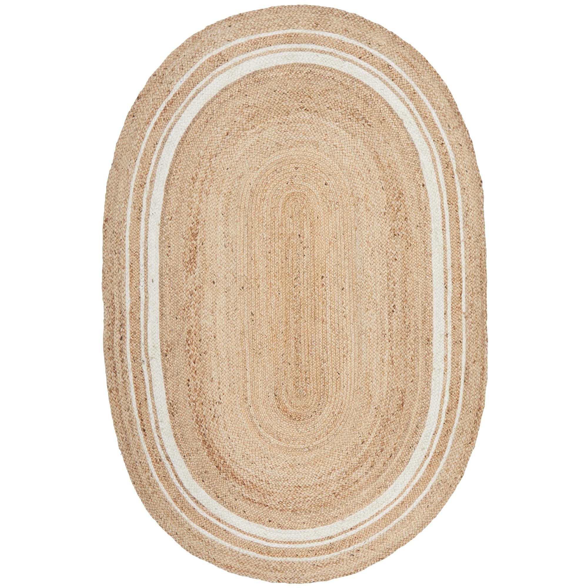 Noosa No.111 Jute Oval Rug, 280x190cm