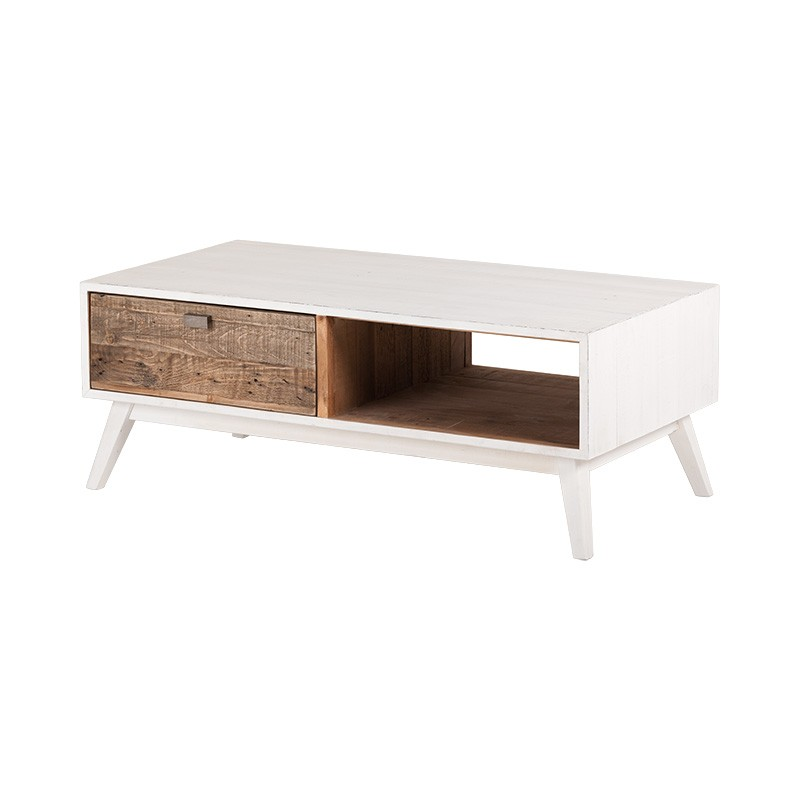 Amalfi Recycled Pine Timber Coffee Table, 120cm