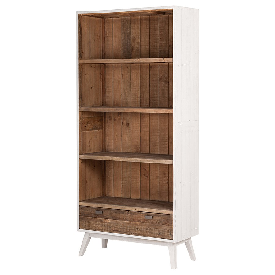 Amalfi Recycled Pine Timber Bookcase