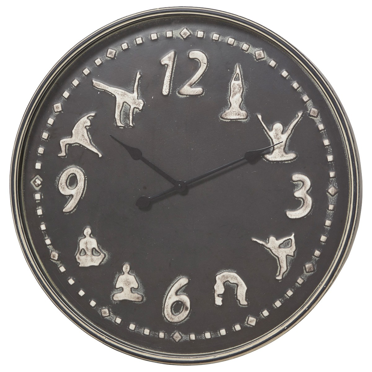 Yoga Central Metal Round Wall Clock, 72cm