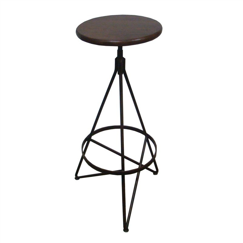 Ronan Metal Frame 75cm Bar Stool with Timber Seat