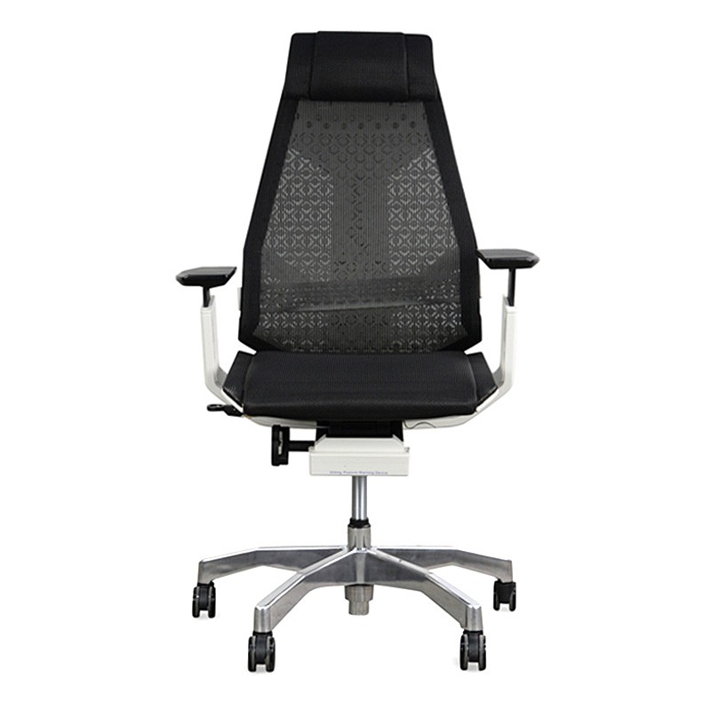 Genidia High Back Ergonomic Office Chair, White / Black