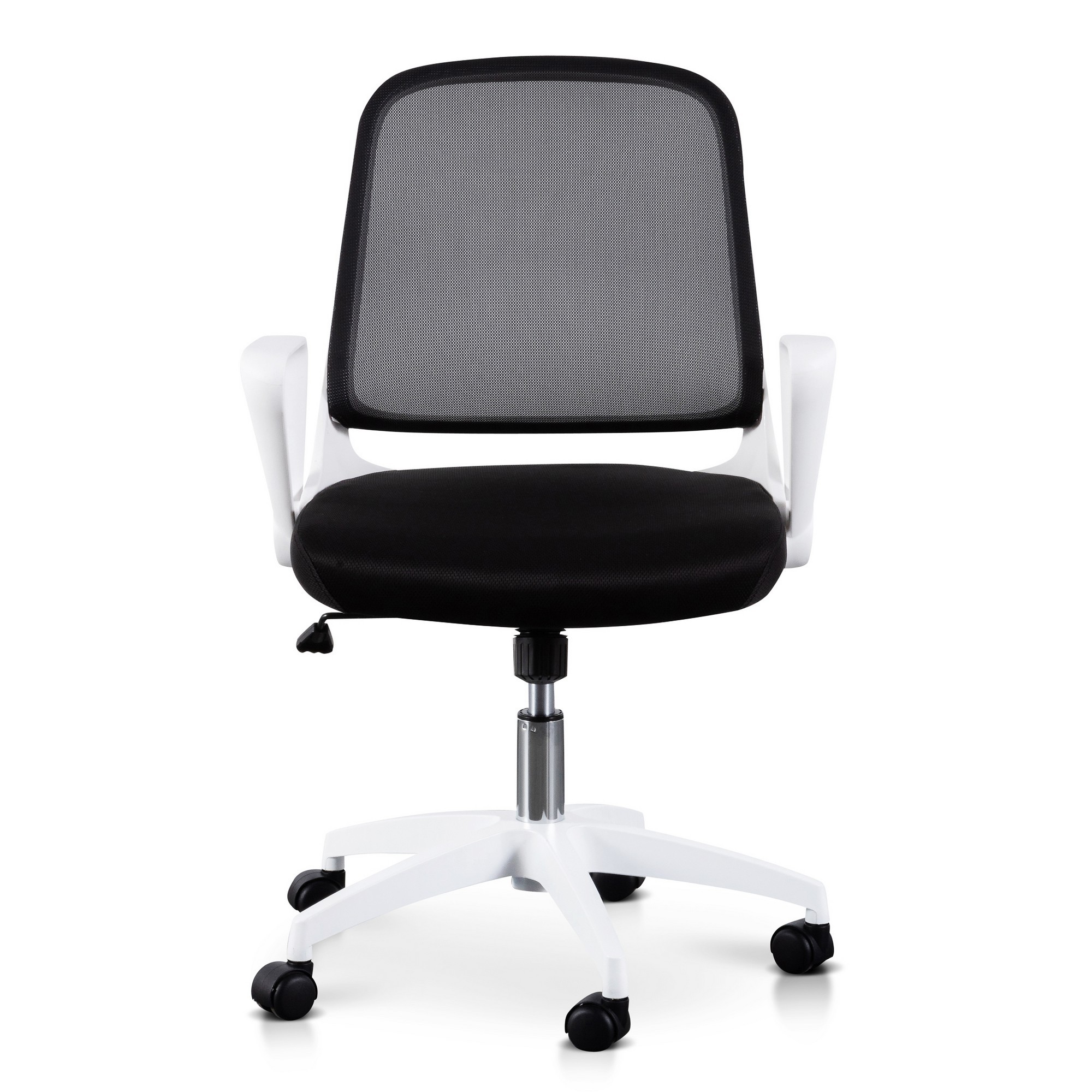 Burston Fabric Office Chair, White / Black