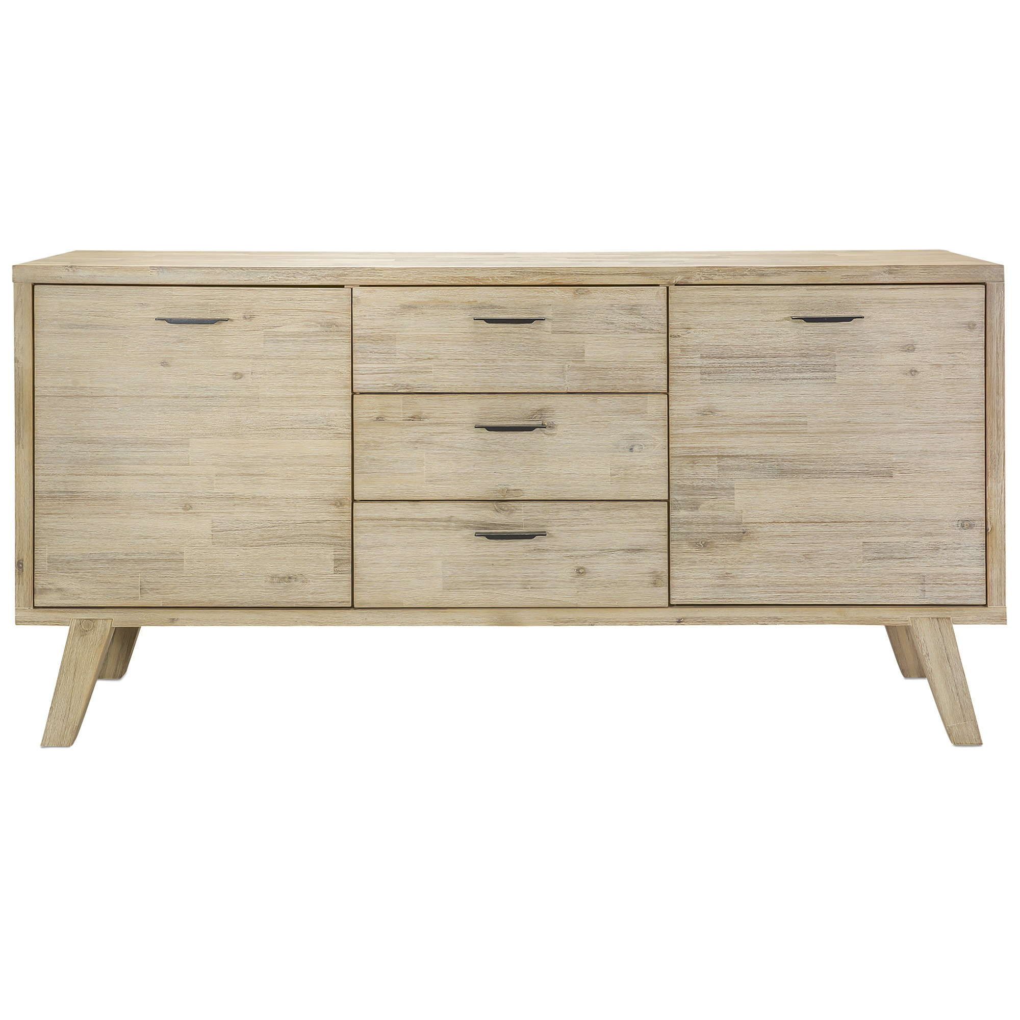 Sundara Acacia Timber 2 Door 3 Drawer Buffet Table, 160cm