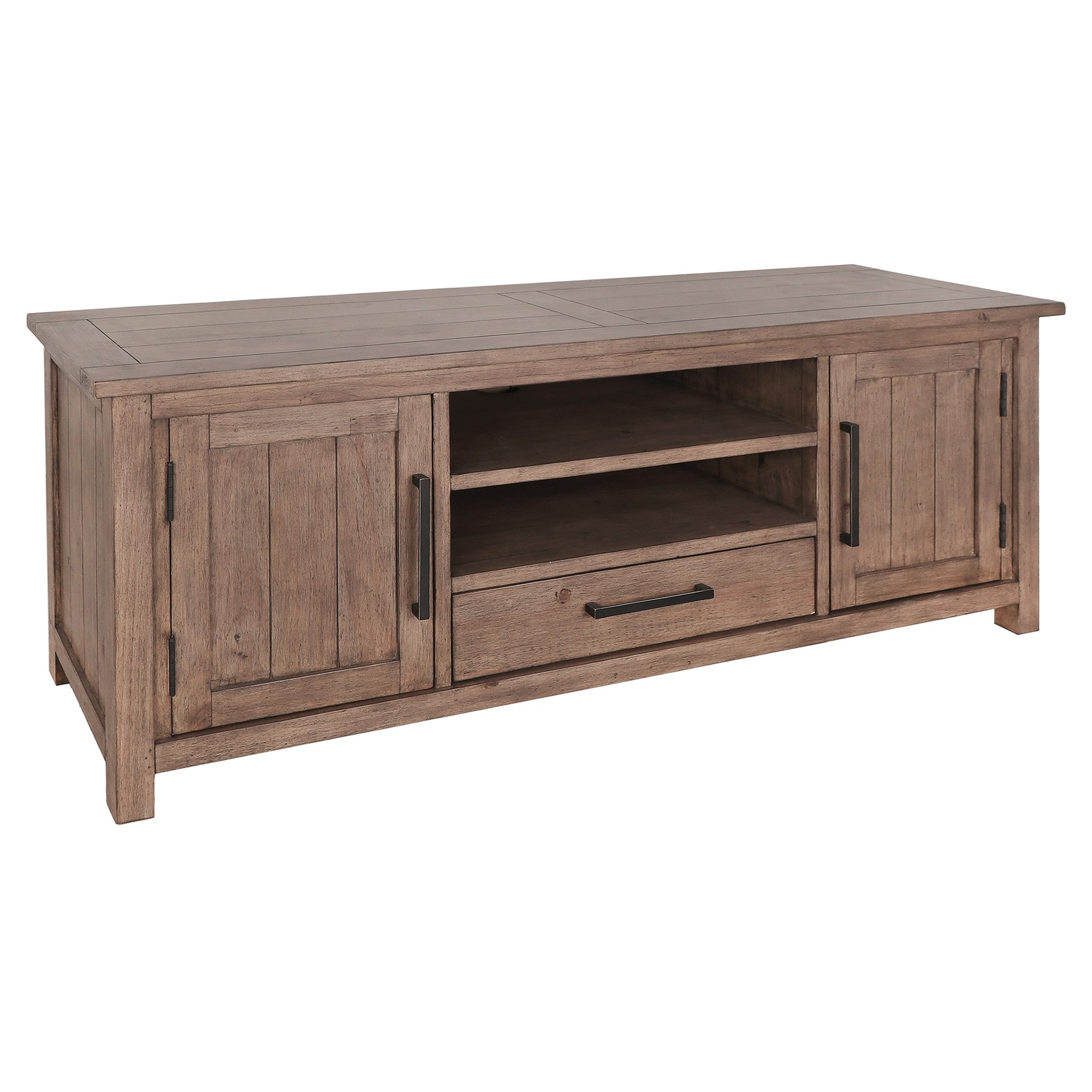 Griffin Pine Timber 2 Door 1 Drawer TV Unit, 160cm