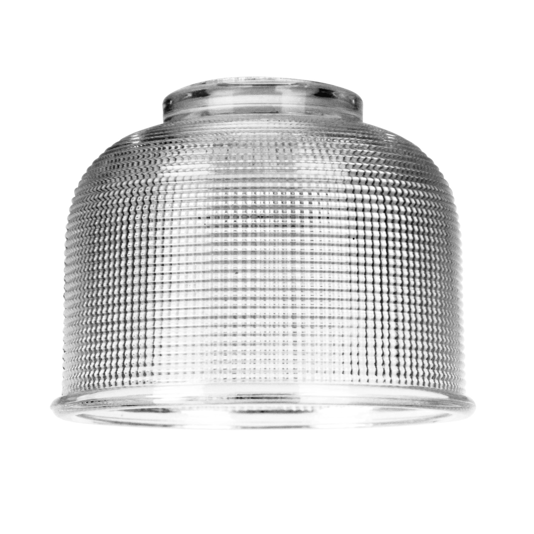 Maison Halophane Glass Pendant Light Shade, 15cm, Clear