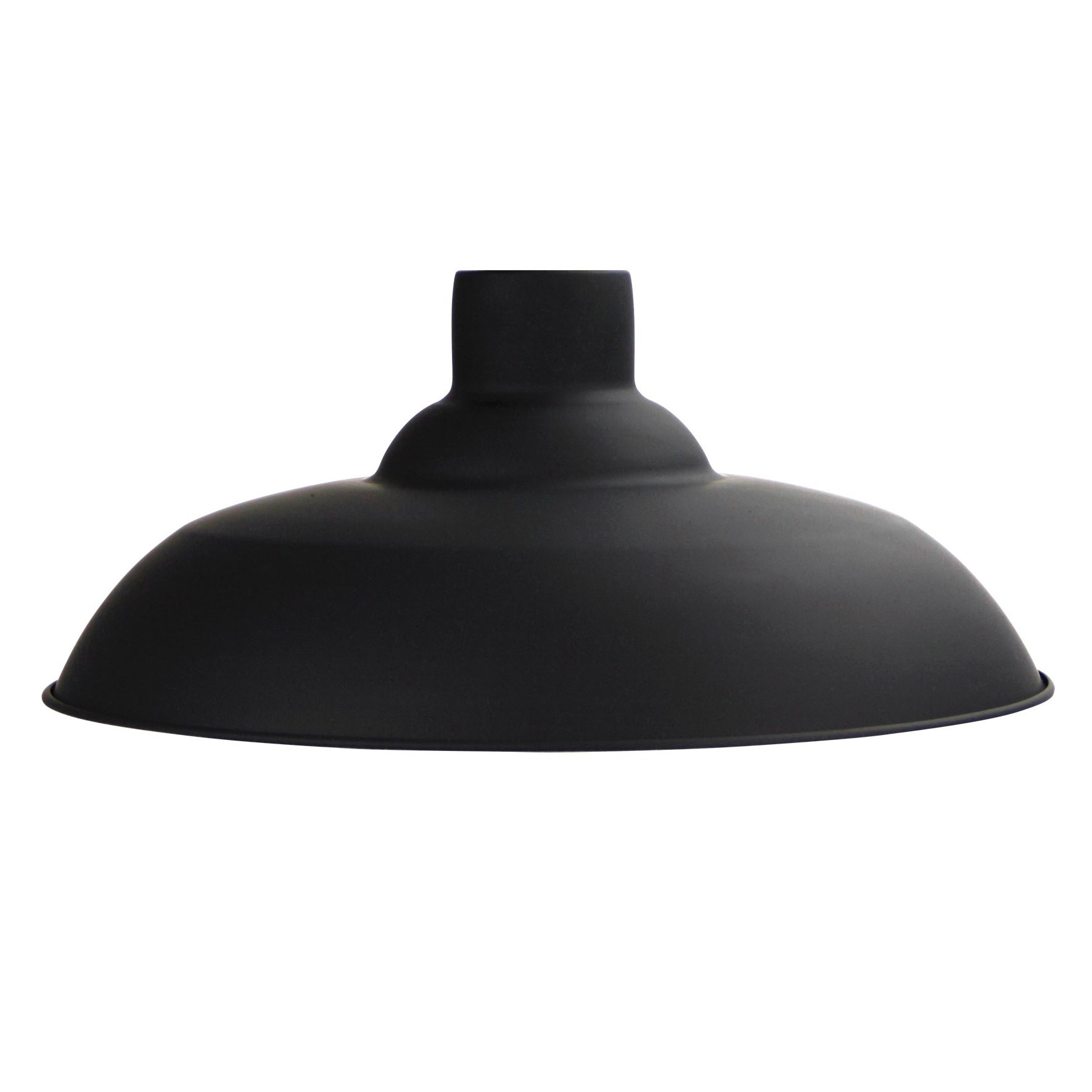 Slater Metal Pendant Light Shade, Matt Black