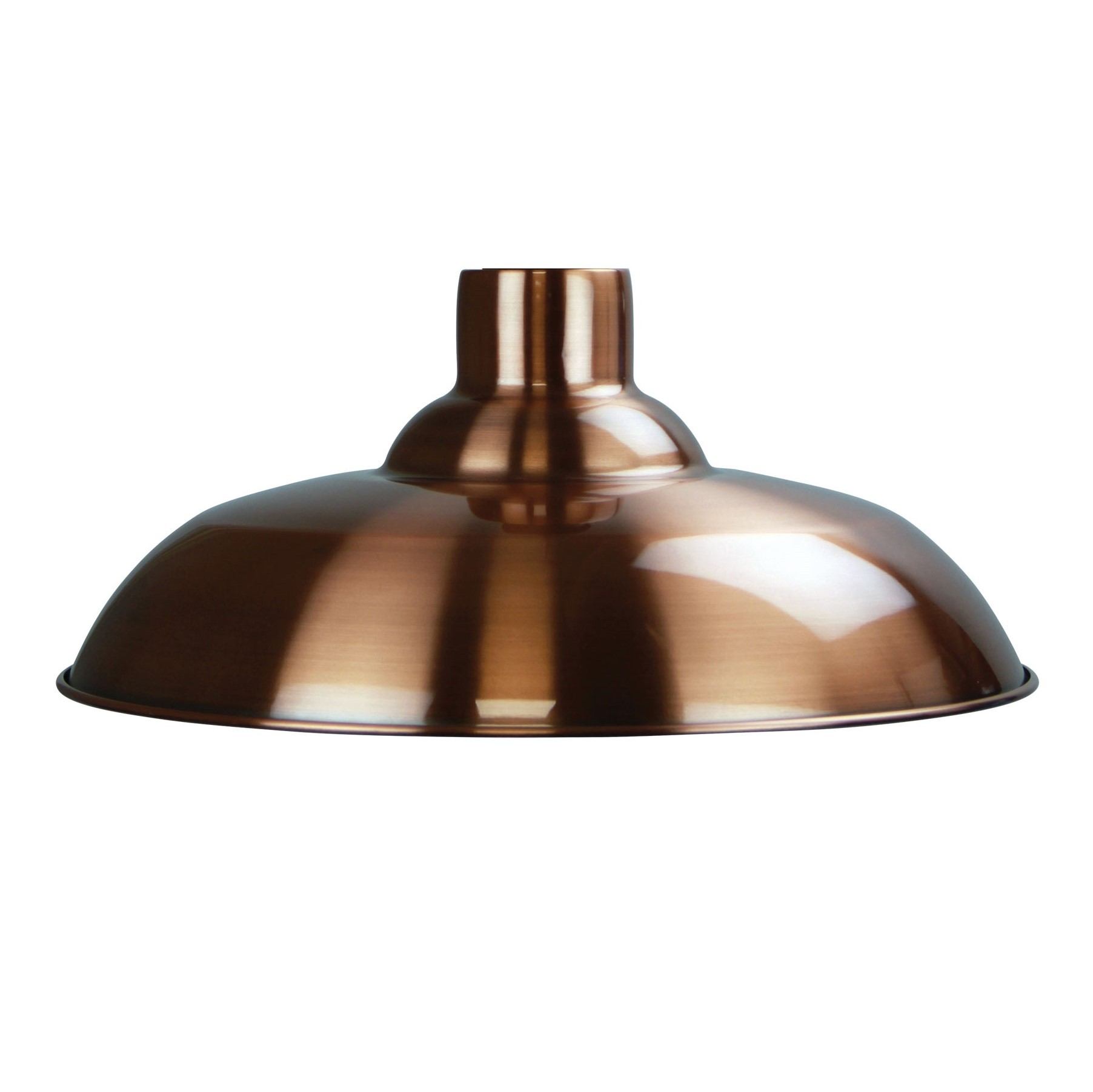 Slater Metal Pendant Light Shade, Brushed Copper