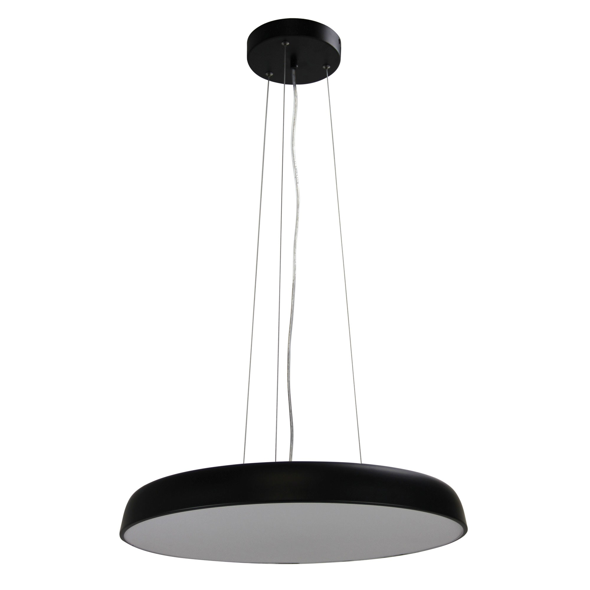 Madison Dimmable Colour Changing LED Pendant Light, Large, Black