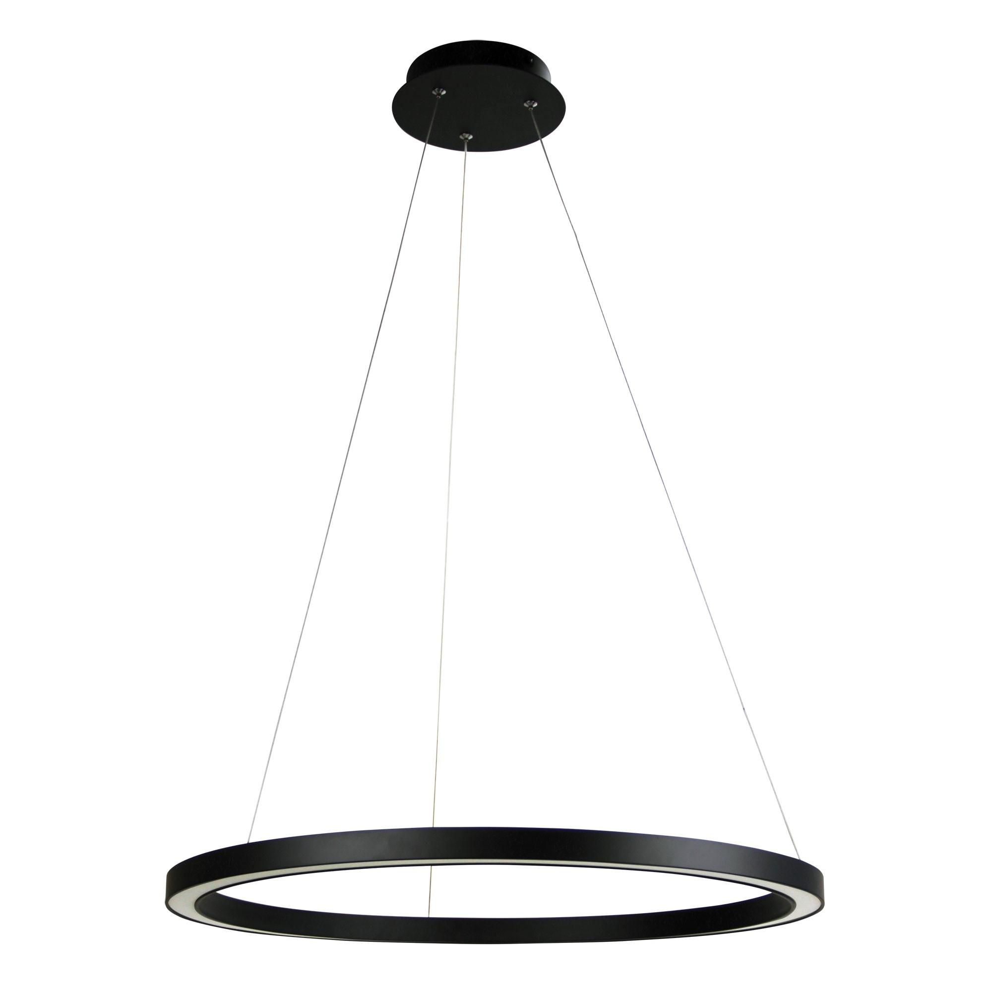 Nimbus LED Halo Ring Pendant Light, 60cm, Black